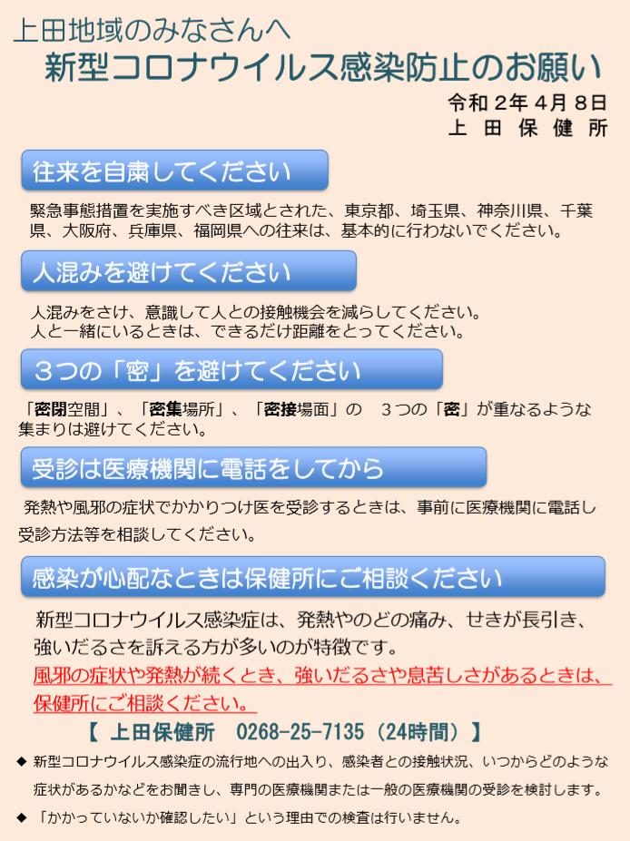コロナ 上田 市